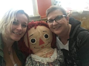 TOPS members Rachael and Jennifer found Annabelle